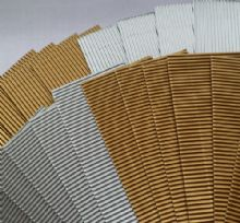 Gold / Silver Corrugated card. 20 strips.